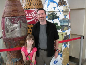 Anna and me at the World of Coke